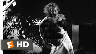 King Kong (1933) - The Clutches of the Beast Scene (8/10) | Movieclips