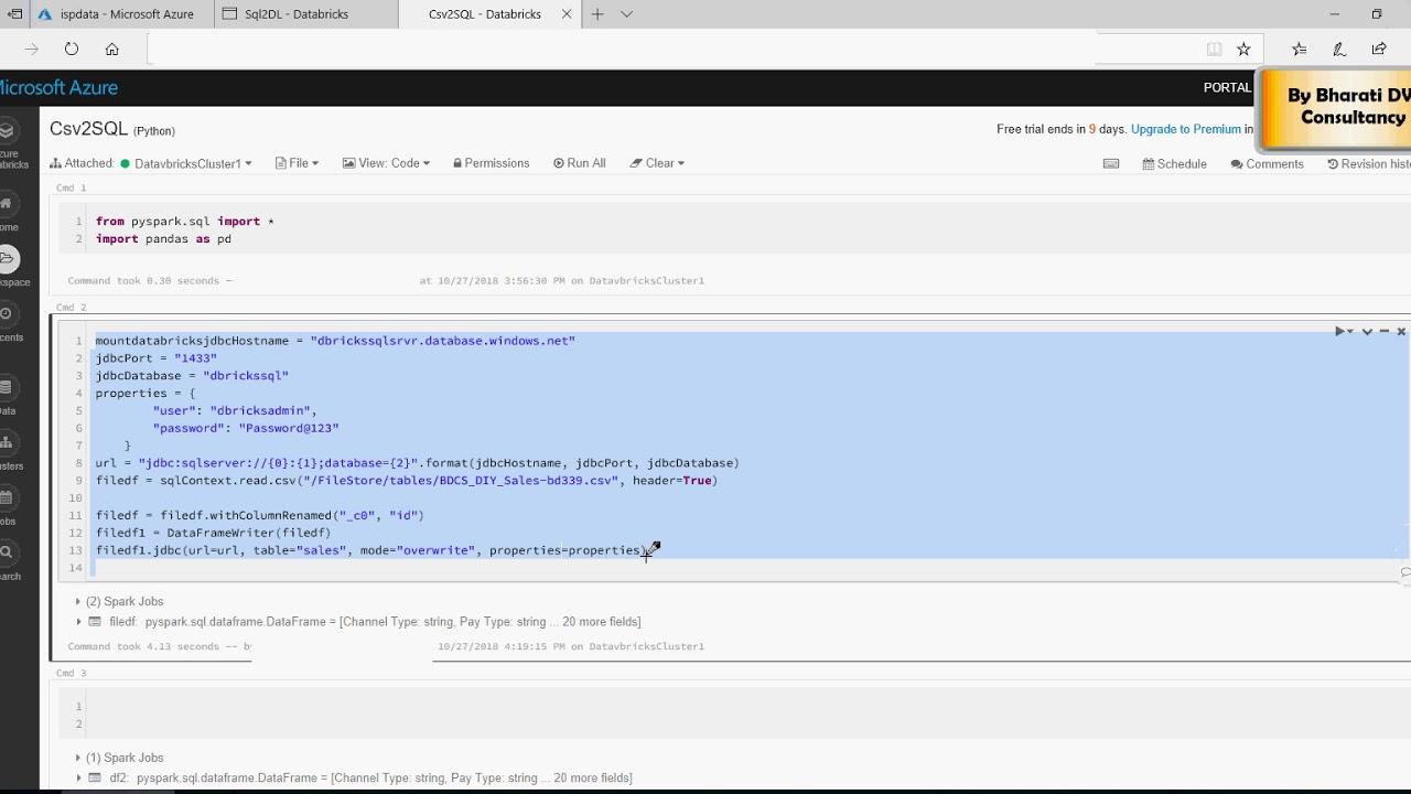 Azure Databricks - Writing to Datalake - Do it yourself