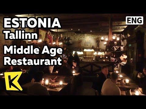 【K】Estonia Travel-Tallinn[에스토니아 여행-탈린]중세 레스토랑/Restaurant/Olde Hansa Restoran/Vension
