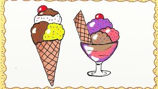 ice drawing cream draw simple