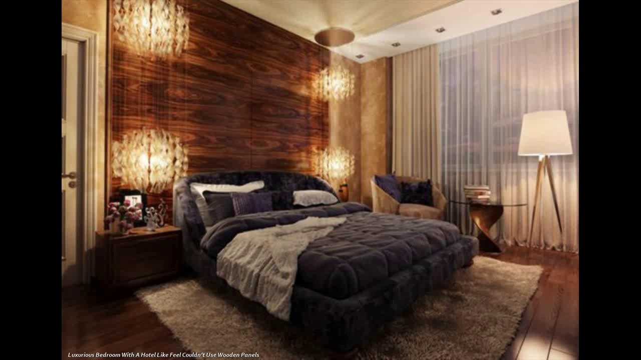 Modern Bedrooms Designs Along With Wood Panel Walls - YouTube