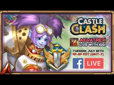 Huge IGG Livestream Tomorrow! Huge Giveaways! Castle Clash
