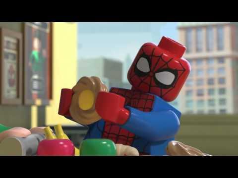 Лего человек паук мультфильм смотреть