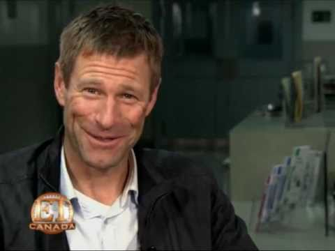 Aaron Eckhart on set of The Expatriate