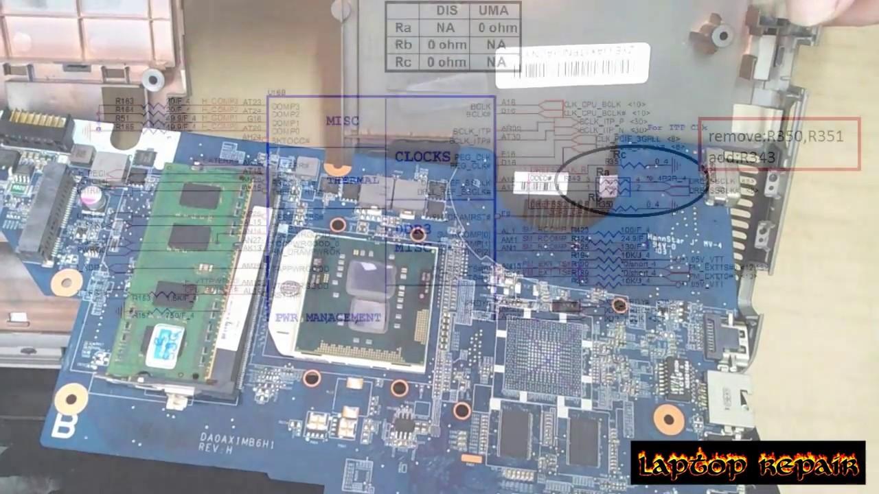 Remove vga ati HP G42 Compaq CQ42 CQ62-how to fix Laptop display not working