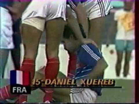 Final Football des jeux olympique 1984 Los Angeles France Bresil