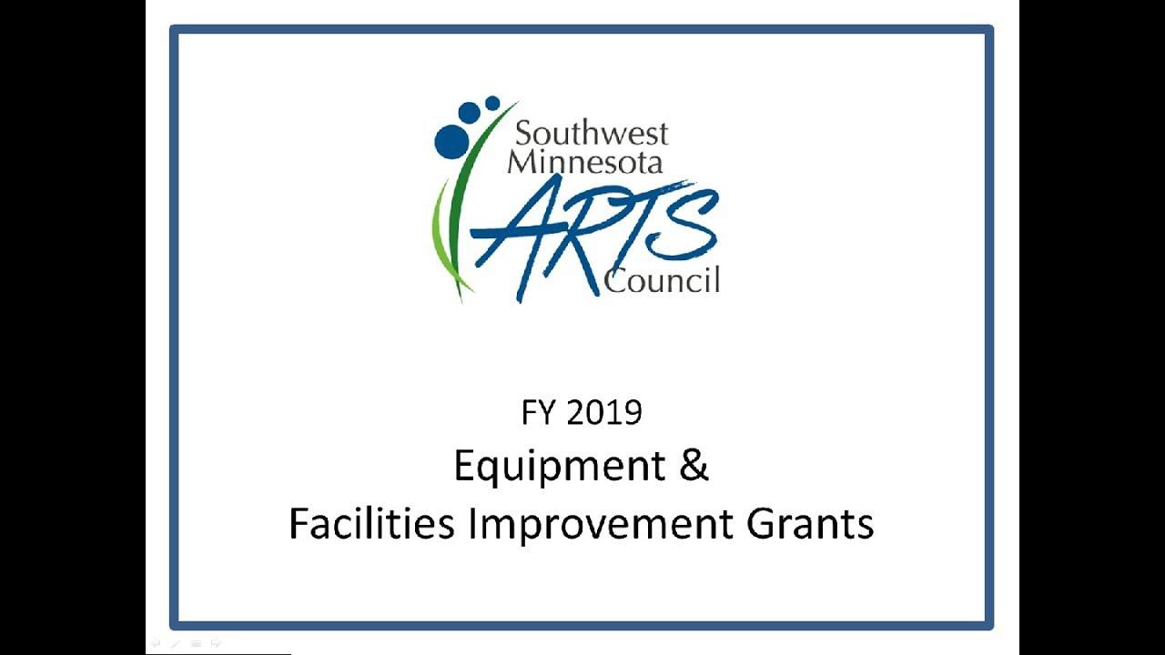 sw mn arts council fy 2019 equipment facilities improvement