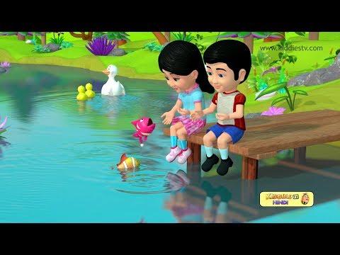 Machli Jal ki Rani Hai Hindi Rhyme | Hindi baby songs | Kindergarten | | Preschool | Kiddiestv Hindi
