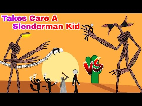 Siren Head vs Cartoon Cat, Cartoon Dog, Granny, Slenderman Takes Care A Kid [Dc2]