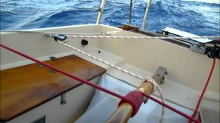 self steering with a quartering wind.wmv
