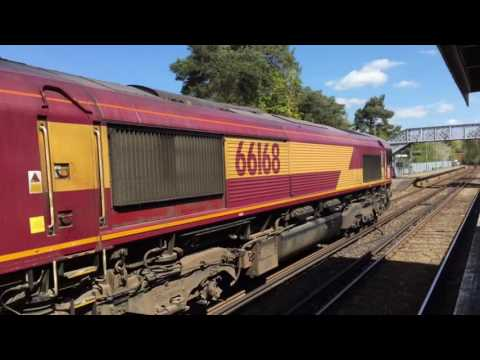 (HD) DB Cargo 66168 passes Yalding working 6V69 - 4/5/16