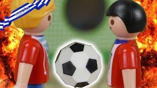 Η μεγάλη μονομαχία ποδοσφαίρου ανάμεσα στο Γιώργο και το Γιάννη.