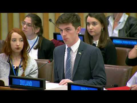 Ireland's UN Youth Delegates address the United Nations