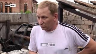 Последствия артобстрела Горловки. Новости Украины сегодня 11.07.2016
