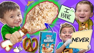 NEVER HAVE I EVER + DIY THANKSGIVING TURKEY LEG w  Rice Krispies Treats FUNnel Family Recipe