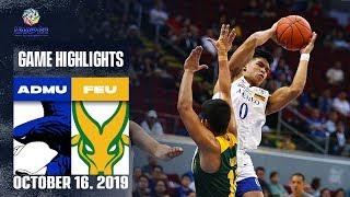 ADMU vs. FEU - October 16, 2019  | Game Highlights | UAAP 82 MB