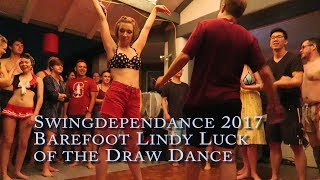 Barefoot Lindy Luck of the Draw Finals - SWINGdepenDANCE 2017
