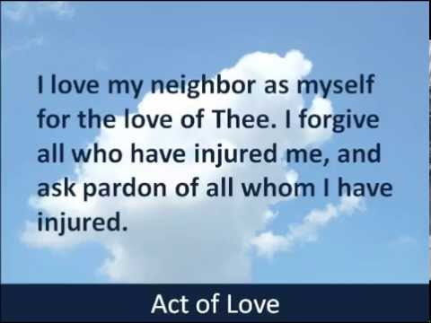 Act of Love - Hear and Read the Prayer - Baltimore Catechism - 1885