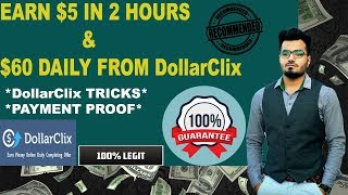 Earn $5 in 2 hours from dollarclix for free | offer walls & payment proof urdu/hindi #technicalrush subscribe now! https://www./channel...