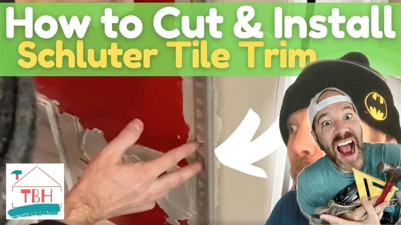 how to cut install schluter aluminum bullnose tile edging trim easily transition tile drywall