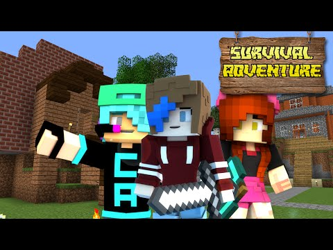 MINECRAFT SURVIVAL ADVENTURE EP16 | HOW TO HOTEL BUILD | CHAD, DOLLASTIC & AUDREY