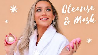 MY 2 STEP CLEANSE & MASK ROUTINE | FOREO SWEDEN UFO 2 FULL REVIEW!