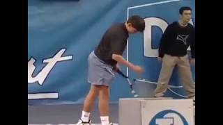 Rafael Nadal ( 14 years old)  winning a Tournament and signing Autographs