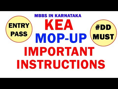 KEA Mop Up 🔥Very Important Instructions🔥    🔥Entry Pass🔥   🔥DD Details🔥