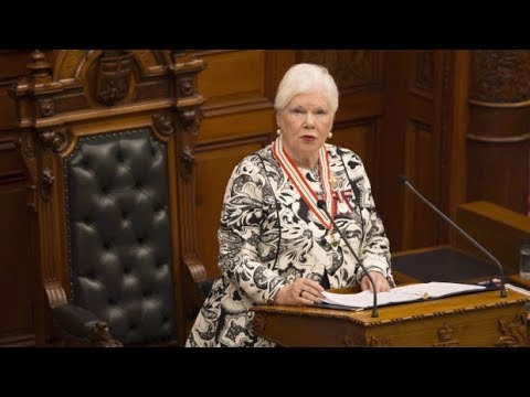 Ontario Lt.-Gov. Elizabeth Dowdeswell delivers throne speech.