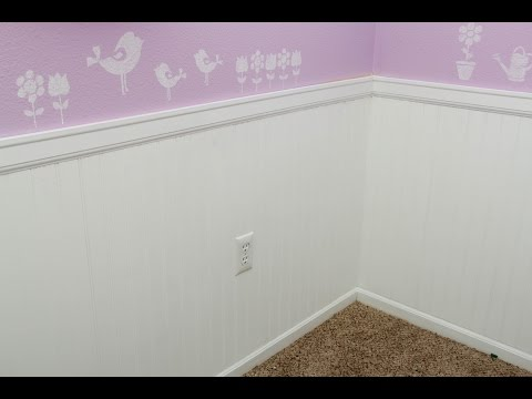 Installing Wainscoting/Bead Board