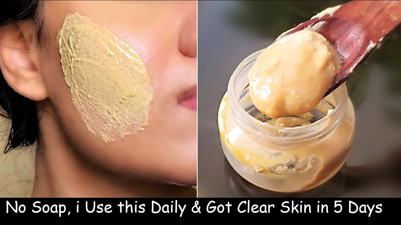 No Soap No Facewash! i use Turmeric Besan Face Pack daily for  GLOWING GLASS skin & Dark Spots