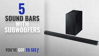Top 5 Sound Bars With Subwoofers [2018]: Samsung 2.1 Channel 300 Watt Sound Bar with Wireless Active
