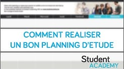Tutoriel - Comment réaliser un bon planning d'étude !