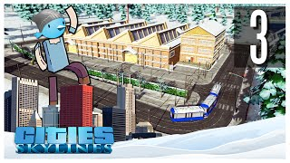 Cities Skylines - Snowfall Ep.03 : Trams & Heating Pipes!