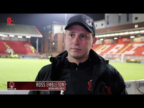 REACTION: Interim Head Coach Ross Embleton following the O's 1-1 draw at home to Dover