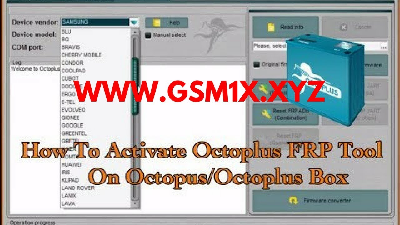 Octoplus Huawei Tool Activation by Gsm1x Channel