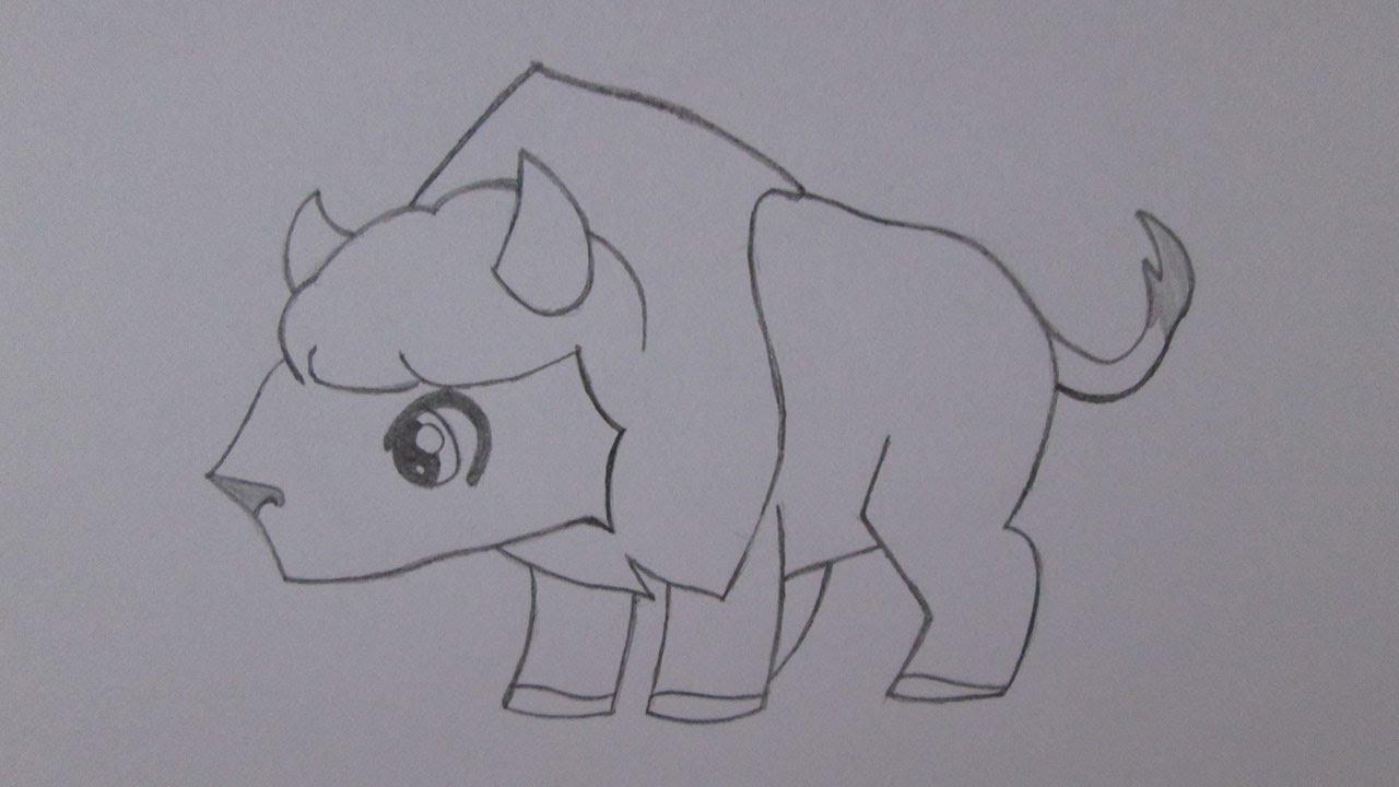 Cómo dibujar un búfalo - YouTube