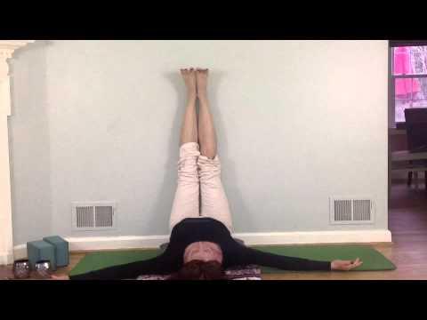 restorative yoga viparita karani legs up the wall  youtube