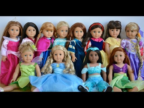 American Girl Doll Disney Princesses ~ Frozen, Cinderella, Ariel, Belle ~ HD WATCH IN HD!