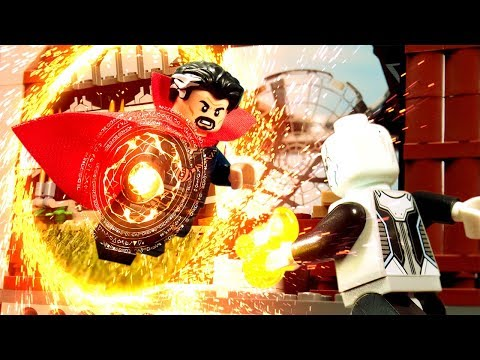 Avengers Infinity War Doctor Strange VS Ebony Maw fight scene Lego Stop Motion