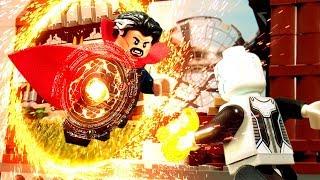 Avengers Infinity War Doctor Strange VS Ebony Maw fight scene Lego Stop Motion