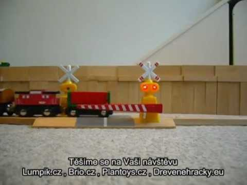 Wooden Railway - Interactive Train Track Crossing Gate by Wooden Railway