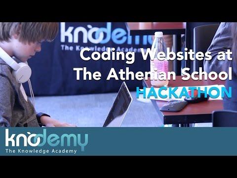 Creating Websites at the ATHENIAN SCHOOL HACKATHON