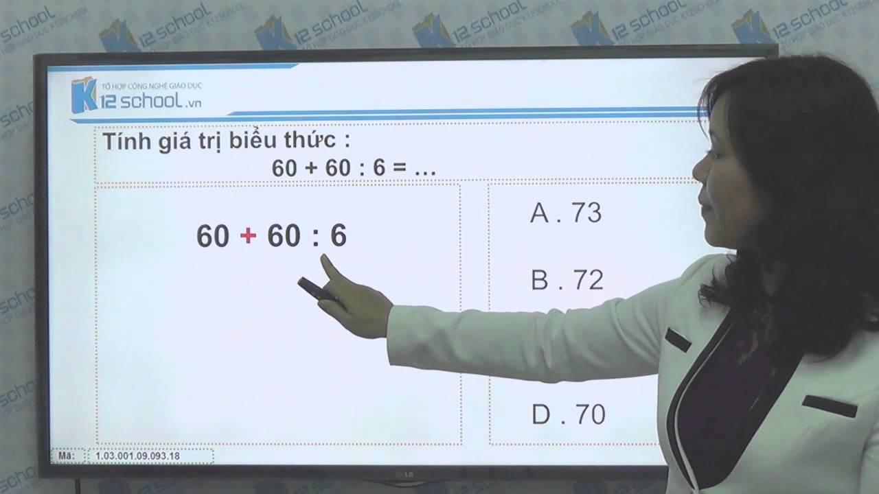 [Toán tiểu học][Toán 3, Toán lớp 3] – Tính giá trị biểu thức – [Lika-K12school]