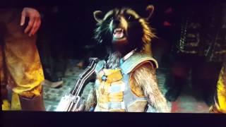 Rocket raccoon His back story scene