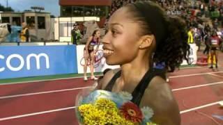 Allyson Felix double Diamond League winner - from Universal Sports