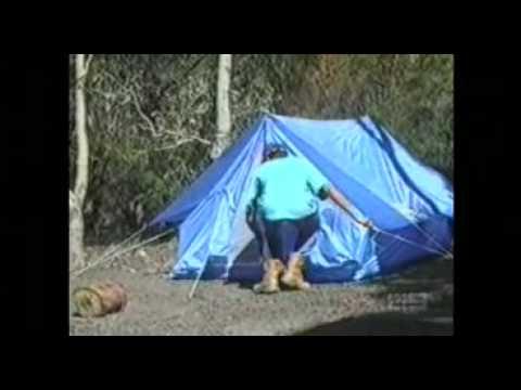 Goanna in a Tent Prank