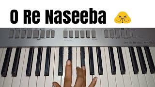 O Re Naseeba | Monali Thakur | Easy Piano Tutorial