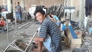 Cara membuat kursi dan membekok pipa stenlise 3/4.