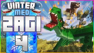 DRAGE VS. WITHER! | Vinter med Zagi #4 | Modded Minecraft